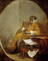 Jean-Baptiste Simeon Chardin - The monkey as antiquarian