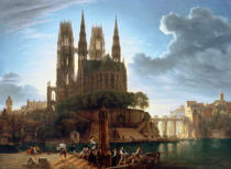 August Wilhelm Julius Ahlborn - Gothic Cathedral by the Water
