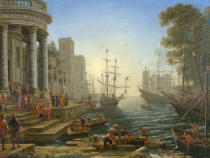 Claude Gellée - Seaport with the Embarkation of Saint Ursula