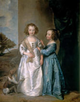 Anthonis van Dyck - Portrait of Elizabeth and Philadelphia Wharton
