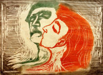 Edvard Munch - Man and Woman Kissing