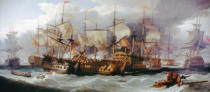Sir William Allan - Naval Battle of Cape St Vincent between English and Spanish, February 14, 1797