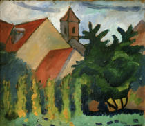 August Macke - Kirche in Kandern
