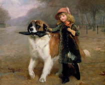 Charles Burton Barber - Off to School