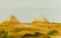 David Roberts - View of the Pyramdis of Giza