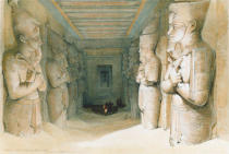 David Roberts - INTERIOR OF THE TEMPLE