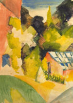 August Macke - Greenhouse in the park of Oberhofen