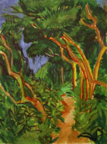 Ernst-Ludwig Kirchner - Fehmarn countryside, forest track