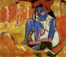 Ernst-Ludwig Kirchner - The Blue Girl in the sun