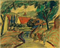 August Macke - Dorfstraße in Kandern II