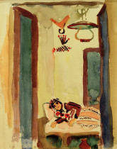 August Macke - Woman on couch