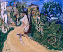 Chaim Soutine - Blue figure (Ascending road in Cagnes)