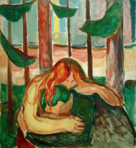 Edvard Munch - Vampire in the Forest