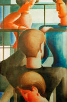 Oskar Schlemmer - Group on the railing I