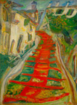 Chaim Soutine - Rote Treppe in Cagnes