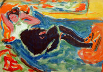 Ernst-Ludwig Kirchner - Woman with black stockings