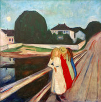 Edvard Munch - Four Girls on the Bridge