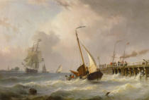 Willem Gruyter der Jüngere - Storm at Sea