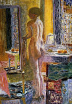 Pierre Bonnard - Nude in front of the mirror