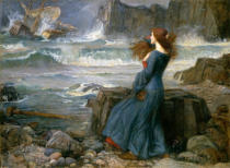 John William Waterhouse - Miranda - Der Sturm