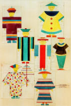 Oskar Schlemmer - 7 Figurines for 'nightingale'