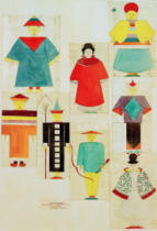 Oskar Schlemmer - 8 Figurines for 'nightingale'