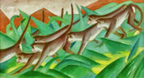 Franz Marc - Graphic monkey frieze