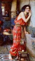 John William Waterhouse - Thisbe or the Listener