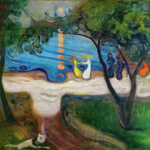Edvard Munch - The dance on the shore
