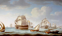 Thomas Buttersworth - The Battle of Trafalgar