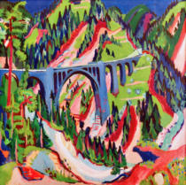 Ernst-Ludwig Kirchner - The Bridge at Wiesen