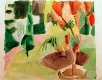 August Macke - Our garden at the lake 2
