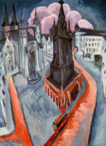 Ernst-Ludwig Kirchner - Roter Turm in Halle