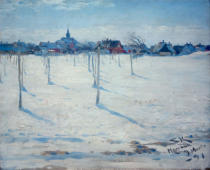 Peter Severin Krøyer - Hornbaek im Winter
