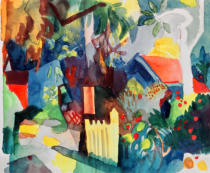 August Macke - Landscape with Bright Tree