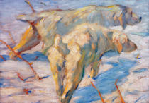 Franz Marc - Siberian Sheepdogs (Siberian dogs in the snow)