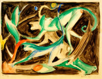Franz Marc - Playing monkeys