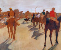 Edgar Degas - Race horses in front on the grandstand