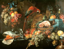 Jan Davidsz. de Heem - Still life with parrot