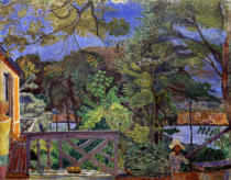 Pierre Bonnard - The terrace in Vernon