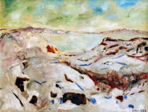 Edvard Munch - Winter in Kragerö (Winter an der Küste)
