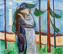 Edvard Munch - Kuss am Strand