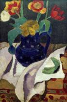Paula Modersohn-Becker - Still Life with Tulips in blue pot