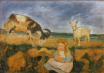 Paula Modersohn-Becker - Elsbeth with goats