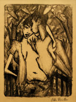 Otto Mueller - Gypsy couple (Gypsy, lovers II)