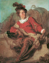 Jean-Honore Fragonard - The abbot of Saint-Non in Spanish clothing