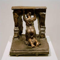Camille Claudel - Woman Kneeling in front of a fireplace