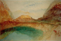 Joseph Mallord William Turner - See in den Schweizer Bergen