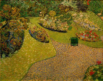Vincent van Gogh - Garten in Auvers
