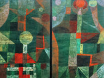 Paul Klee - Landscape in Green with touches of Red